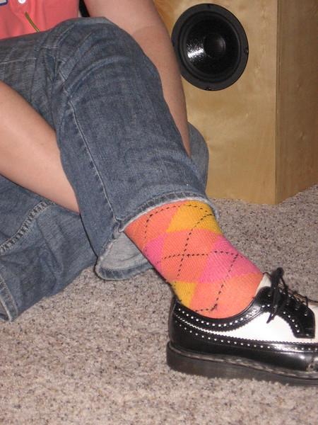 Sarah wore great socks.
