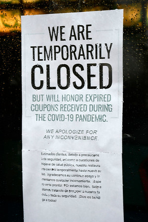 4/9/2020 Mike Orazzi | Staff New China is temporarily closed because of COVID-19 in downtown New Britain on Thursday.