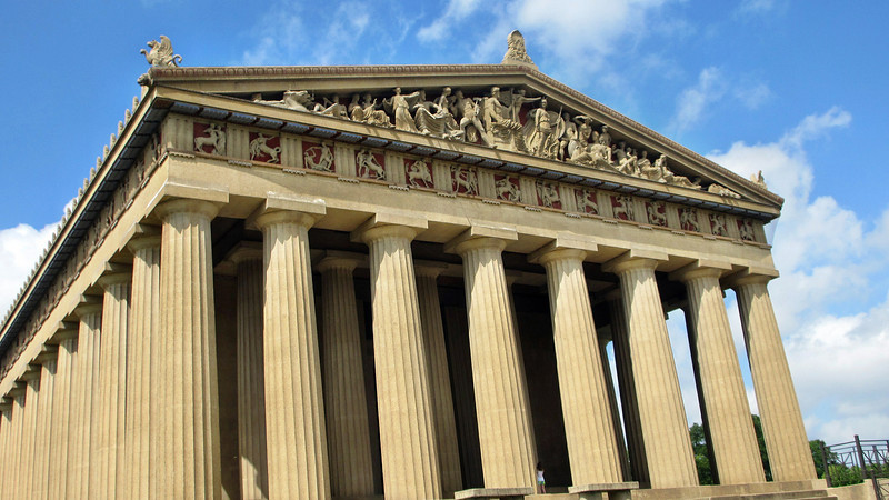 Visiting Nashville's Centennial Park  and the Parthenon