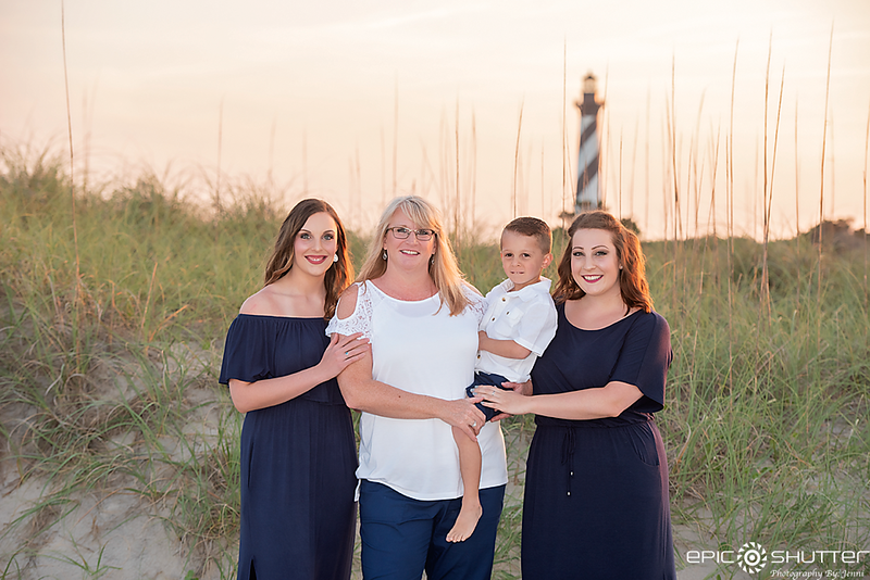 Sunset Family Portraits, Cape Hatteras National Seashore, Cape Hatteras Lighthouse, Old Lighthouse Beach , Buxton, North Carolina, Epic Shutter Photography, Outer Banks Photographers, Hatteras Island Family Photographers, Family