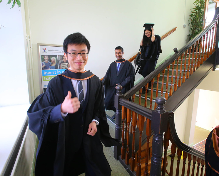 Waterford Institute Of Technology Conferring. Pictured at WIT Waterford Institute Of Technology Conferring is Jiawei Sun who graduated Higher Diploma in Science in Computer Applications. Picture: Patrick Browne