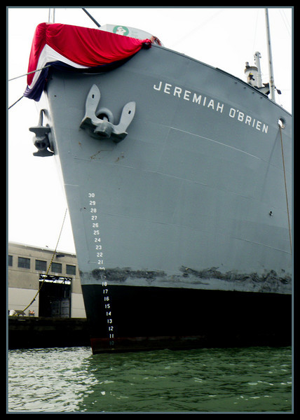 The Jeremiah O'Brien up close.