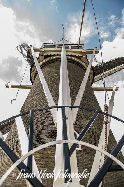 City windmill De Valk (The Falcon) Leiden, Holland