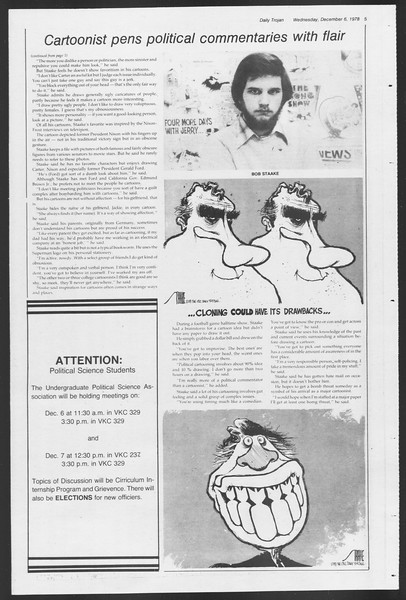 Daily Trojan, Vol. 75, No. 49, December 06, 1978