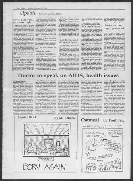 Daily Trojan, Vol. 94, No. 10, September 19, 1983