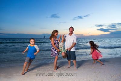 The Jarrett Family Sunset Beach Photography Panama City Beach