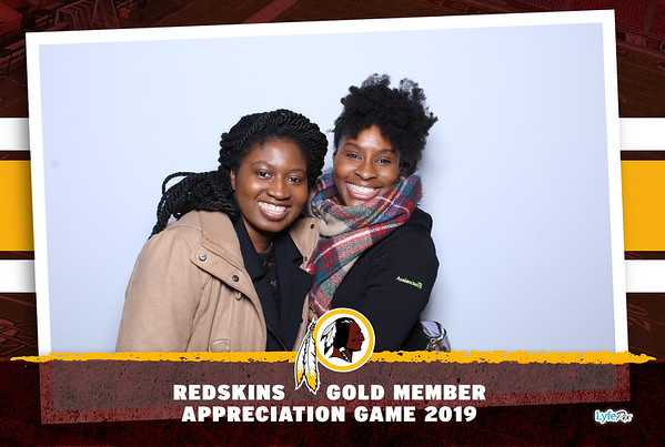 Washington Redskins Gold Member Appreciation Game 2019
