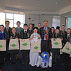 Pictured with Newry, Mourne and Down District Council Chairperson, Councillor Mickey Ruane are some of the pupils from over 40 schools across the District who took part in the junior and senior Council heats of the annual 'Environmental Youth Speak' Competition. The competition challenges Primary and Secondary school pupils to impress a panel of judges by presenting an environmentally themed, five minute speech. This year the topics were 'The adventures of a waste warrior' for the junior section and 'Let's send our waste to a better place' for the senior section. R1609313