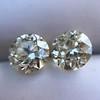 3.40ctw Old European Cut Diamond Pair 3