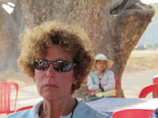 Lynn Kaston after a grueling hike through Angkor Wat in 90+ degrees, close to 100% humidity at Angkor Wat.