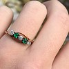 .45ctw Victorian 5 Stone OEC and Emerald Band 10