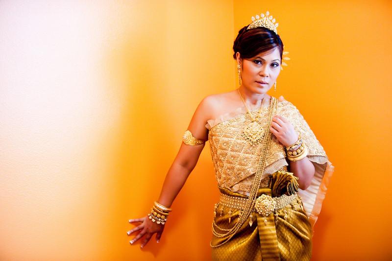 Portrait of a Cambodian bride
