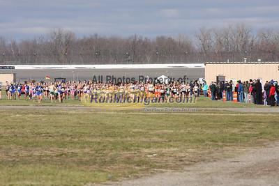 1/4 Mile Mark, D1 Girls - 2012 MHSAA LP XC Finals