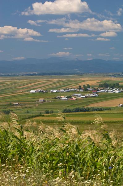Rural landscape near Suceava, Moldavia, Romania