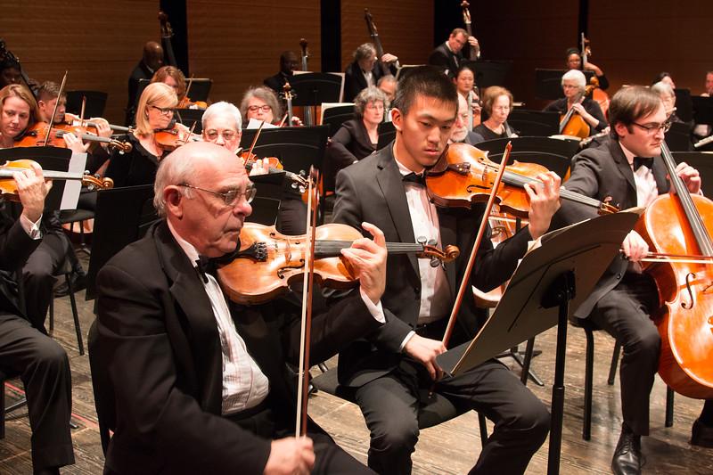 Yakov Shapiro, concertmaster, and Dalton Yu -- Symphony of the Potomac, January 29, 2017
