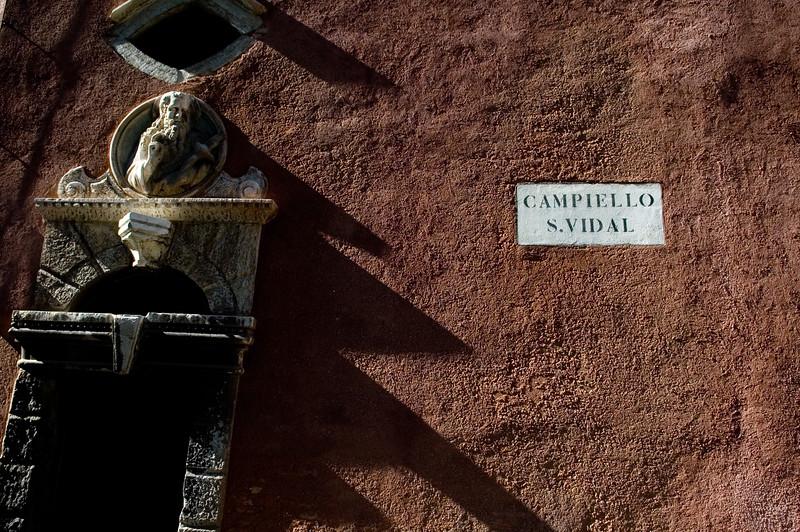 Street sign, Venice, Italy