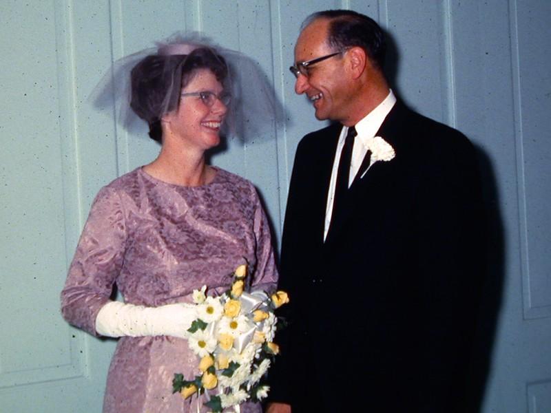 Bob and Mary's wedding. September 1965.