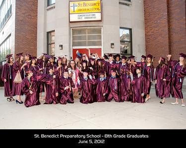 8th Grade Graduates Candid & Group Photos - June 5, 2012