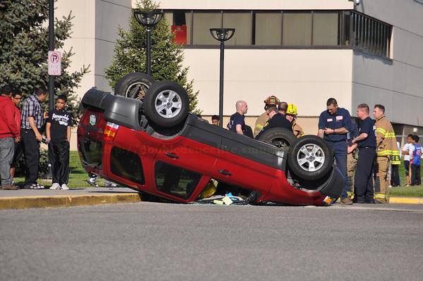 Dearborn,Miller school parking lot rollover