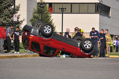 Dearborn,Miller school parking lot rollover
