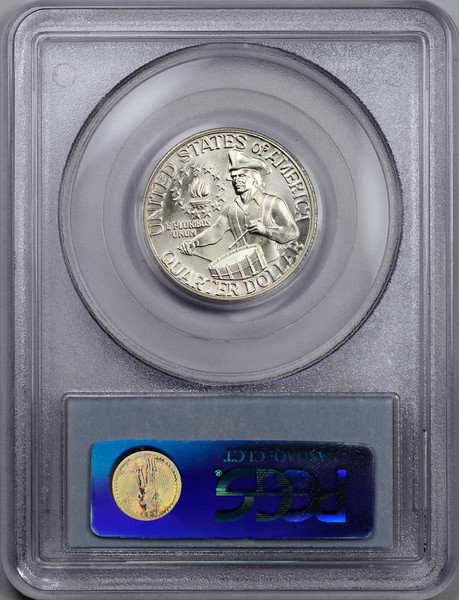 1976 S 25C QUARTER DOLLAR - WASHINGTON, SILVER-CLAD PCGS MS65 12080082 Rev Slab.jpg
