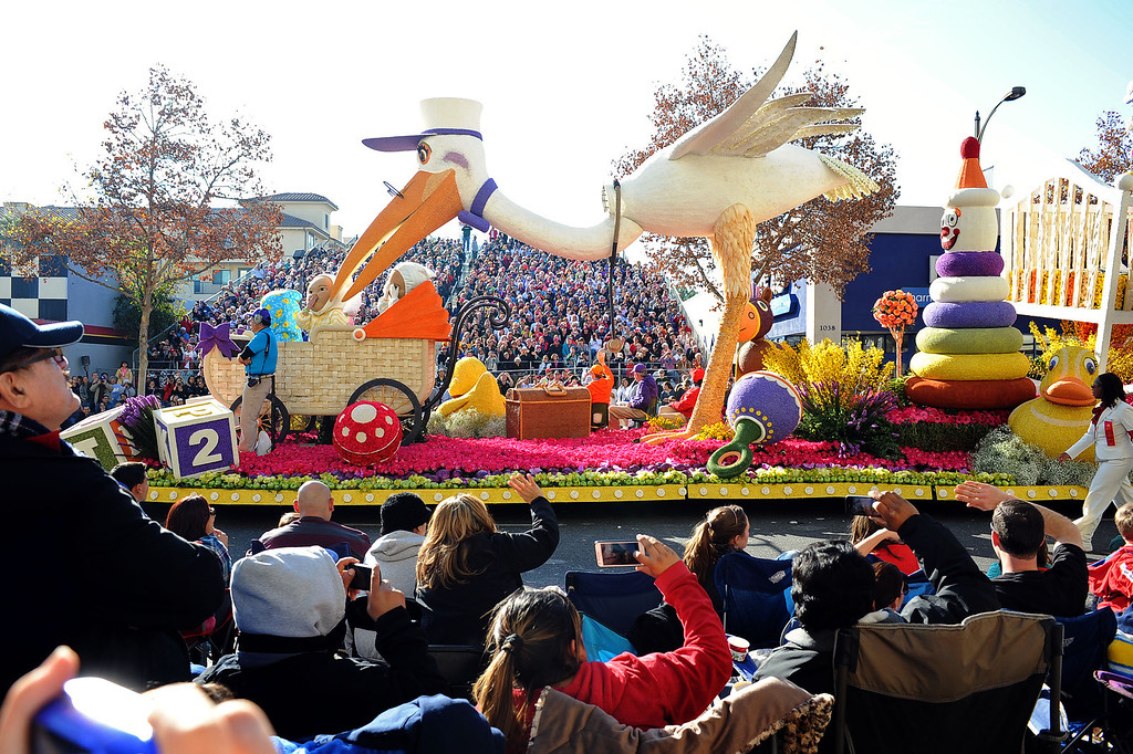 ". Kaiser Permanente\'s ""First Steps to Total Health\"" float won the Most Beautiful Non-Commercial Float award during the 2014 Rose Parade in Pasadena, CA January 1, 2014.(Andy Holzman/Los Angeles Daily News)"