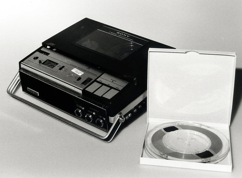 . The original Nixon White House tape and original tape recorder are shown in an undated file photo from the National Archives. The last 340 hours of tapes from President Richard M. Nixon\'s White House were released Wednesday, Aug. 21, 2013, along with more than 140,000 pages of text materials. (AP Photo/National Archives, File)