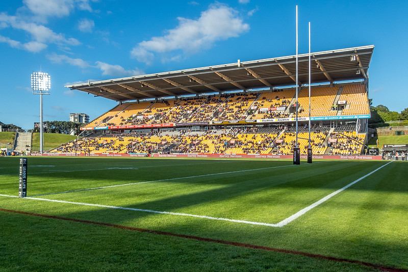 Rugby im Mount Smart Stadion