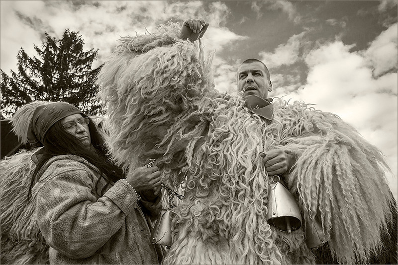 """Kurent"" from slovenian Styria"