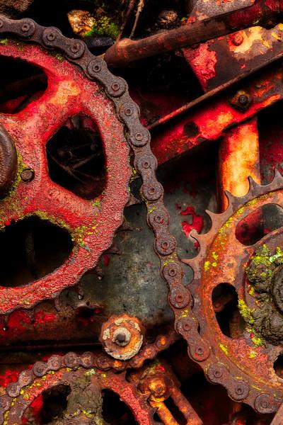 Gears and Chains, Casa de Fruita, Hollister, California, 2010