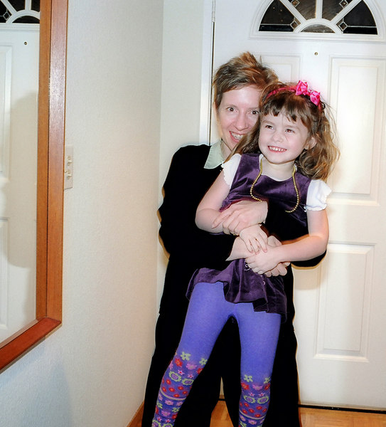Our old friend Laura, with daughter Claire