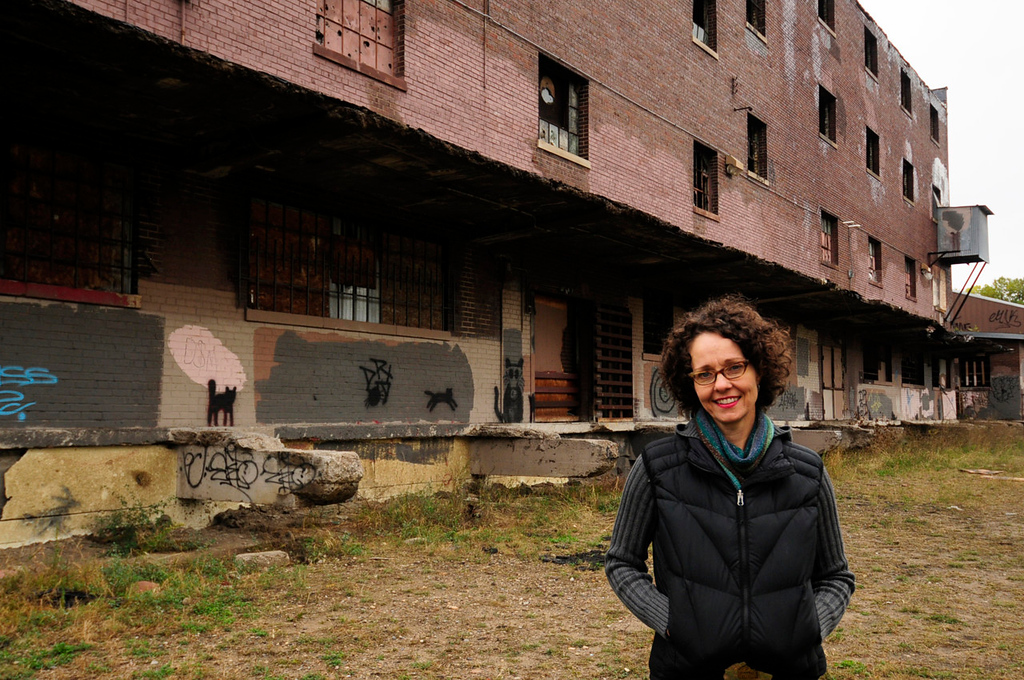 ". Tracy Sides, the winner of the million dollar ""Forever St. Paul Challenge,\"" hopes to transform this abandoned warehouse in St. Paul\'s Bruce Vento Nature Sanctuary into an \""urban oasis,\"" a center to promote and handle locally produced food.   (Pioneer Press: Scott Takushi)"