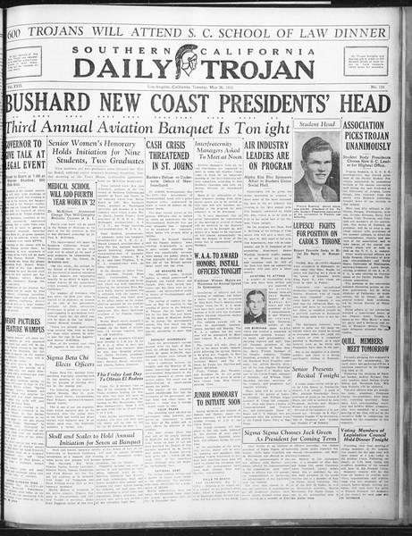 Daily Trojan, Vol. 22, No. 151, May 26, 1931