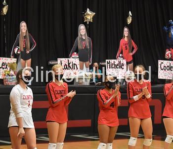 PHOTOS: Clinton volleyball senior night
