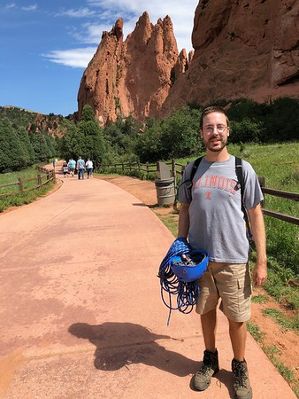 Greg Tops Out at Garden of the Gods - 8/23/18