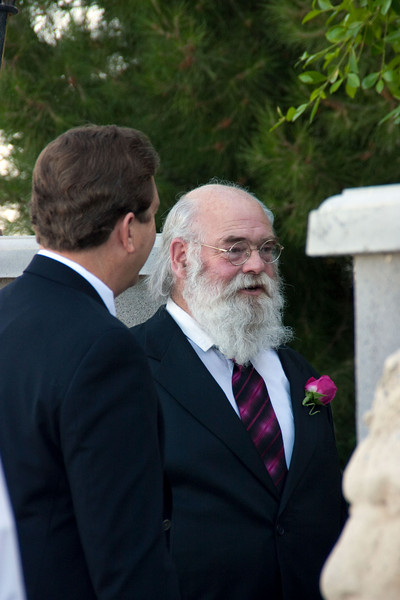 Doug and father of the groom chatting while waiting for photos.