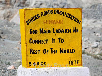 Ladakh, India Road Signs