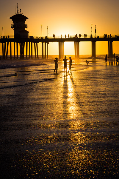 Huntington Beach Sunset Silhouette