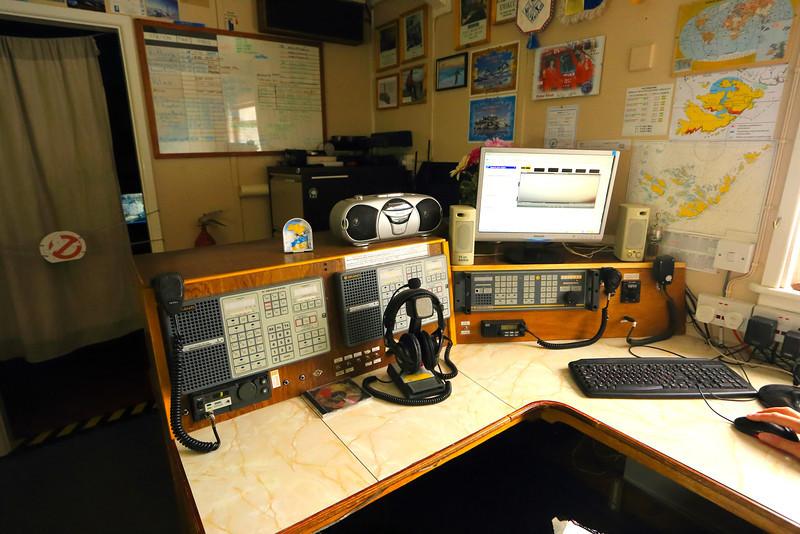 Radio Room:  Akademik Vernadsky Station, Galindez Island 65 15S, 64 16W