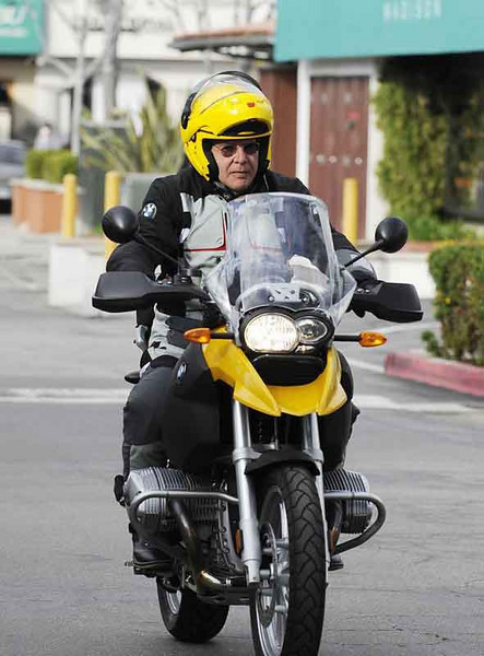 Harrison Ford riding a BMW R1200GS