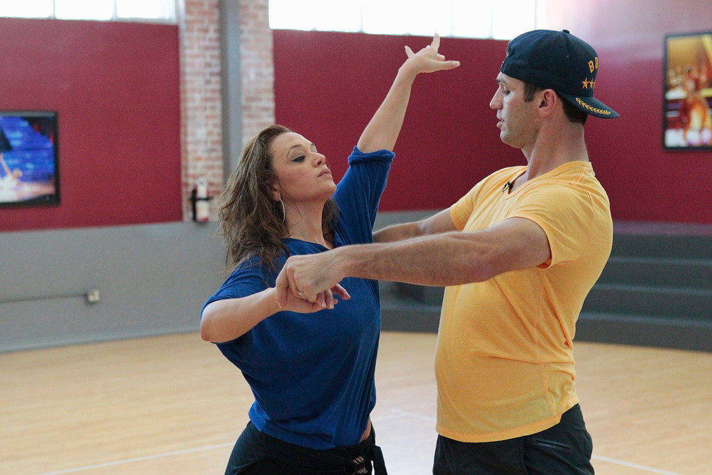 """. DANCING WITH THE STARS - Rehearsals - This season\'s dynamic lineup of stars will perform for the first time on live national television with their professional partners during the two-hour season premiere of \""""Dancing with the Stars,\"""" MONDAY, SEPTEMBER 16 (8:00-10:01 p.m., ET) on the ABC Television Network.  (ABC/Rick Rowell) LEAH REMINI, TONY DOVOLANI"""