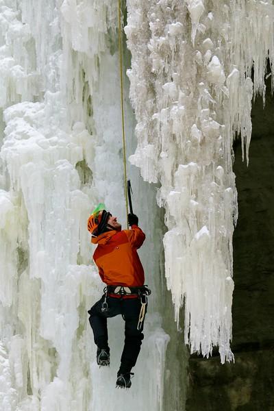 Frigid temps freeze Illinois waterfalls