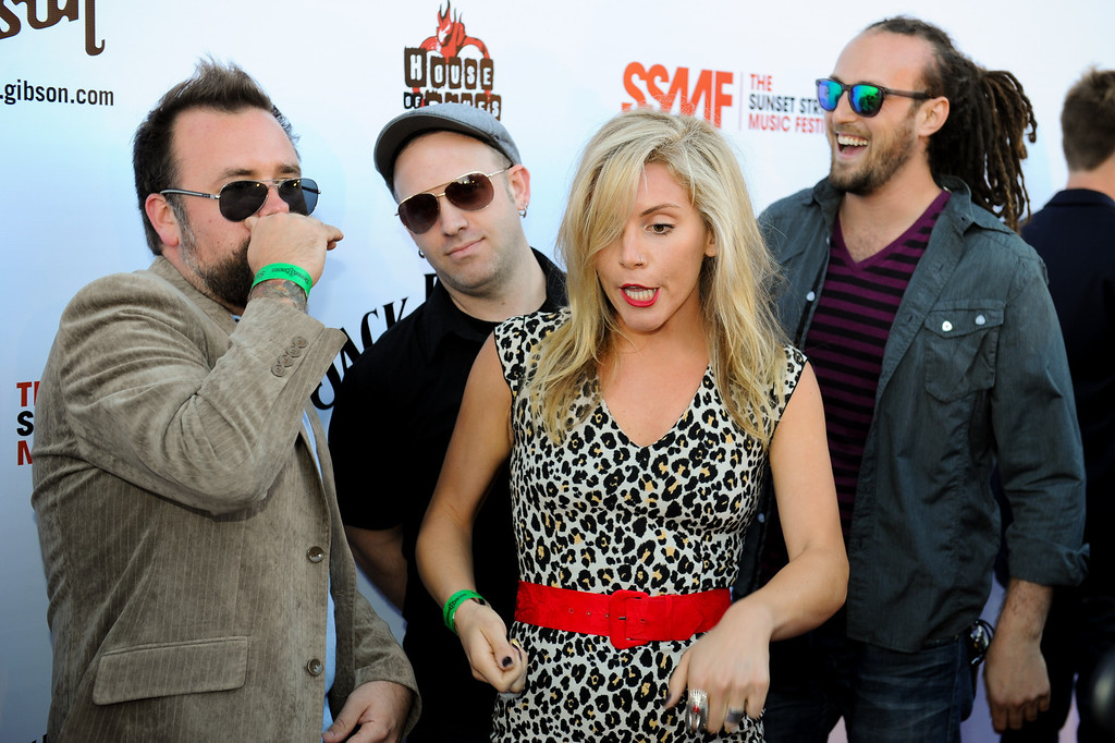 . Novi has fun on the red carpet before the Joan Jett and the Blackhearts concert at the House of Blues as part of the Sunset Strip Music Festival, Thursday, August 1, 2013. (Michael Owen Baker/L.A. Daily News)