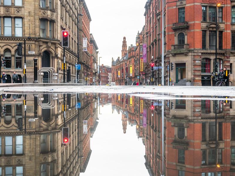 Princess Street Scene, Manchester, England