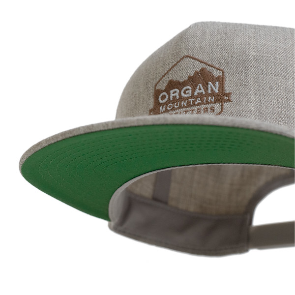 Outdoor Apparel - Organ Mountain Outfitters - Hat - Wool Blend Snapback - Heather Grey Undervisor.jpg