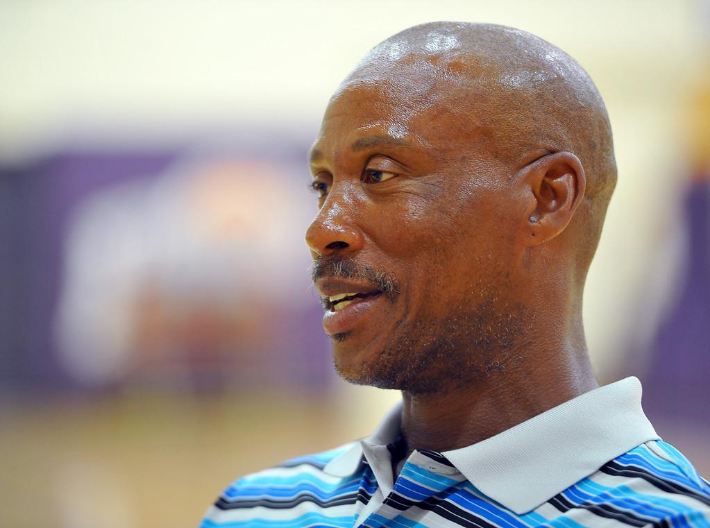 . Lakers head coach Byron Scott talks about the upcoming NBA season at the Lakers training faciltiy in El Segundo, CA on Tuesday, September 9, 2014. (Photo by Scott Varley, Daily Breeze)