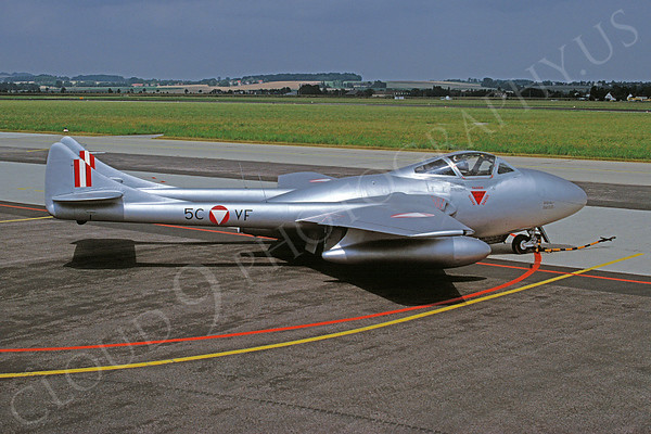 Austrian Air Force de Havilland Vampire Jet Fighter  Airplane Pictures for Sale