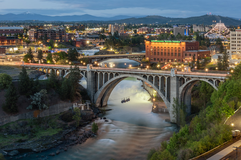 Spokane Falls Twilight