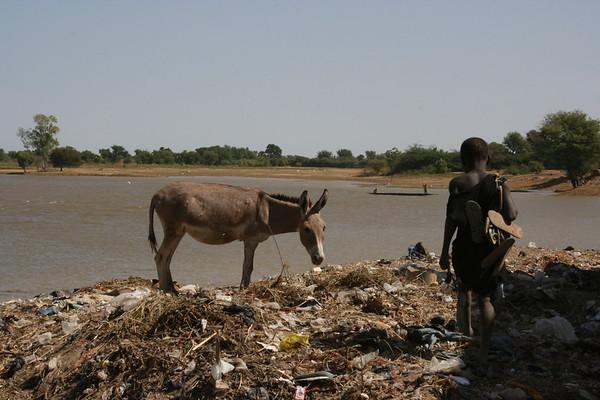 Alongside the River Bani in Djenne, Mali
