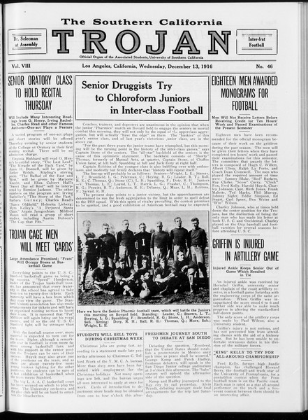 The Southern California Trojan, Vol. 8, No. 46, December 13, 1916